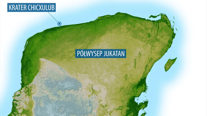 Półwysep Jukatan, Meksyk (NASA/JPL)