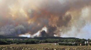 Pożary w Katalonii (PAP/EPA)