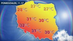 Upał wróci do Polski. Będą 32 st. C