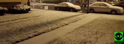 Koniec kwietnia, a w Chicago sypie śnieg
