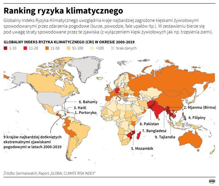 Ranking ryzyka klimatycznego (PAP/Adam Ziemienowicz)