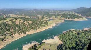 Niski poziom wody w jeziorze Oroville