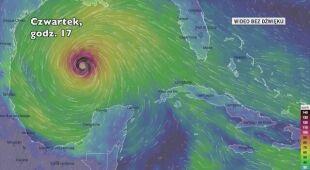 Prognozowana trasa burzy tropikalnej Delta (Ventusky.com)