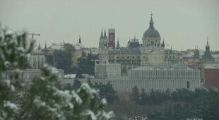 Opady śniegu w Madrycie i okolicach